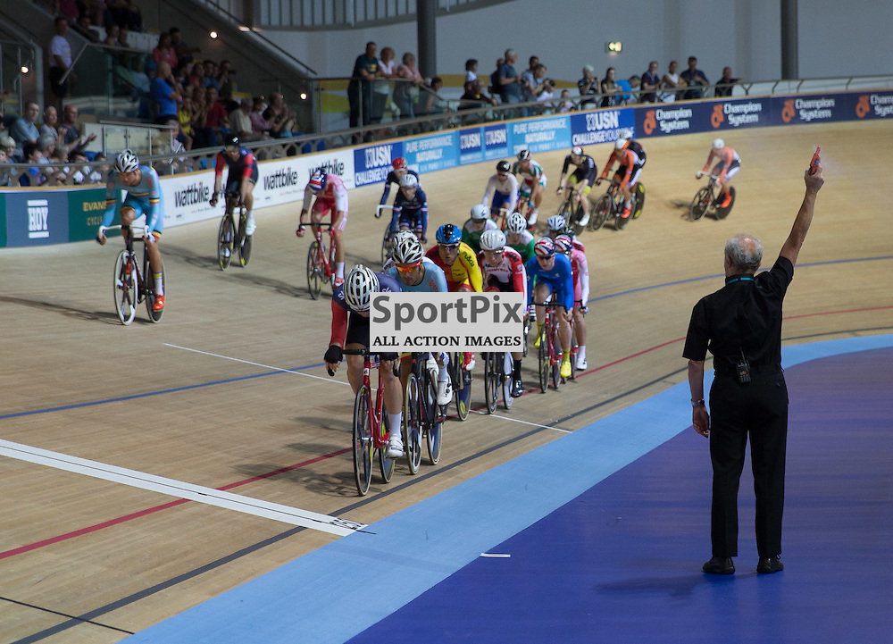 The Men's Omnium starts at the Revoultion Series 2015/6 Round 1 Derby, Day 2, on 15 August 2015 ( (Photo by Mike Poole - Photopoole)