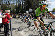 France April 13th 2014: Sep Vanmarcke, Belkin, is followed by John Degenkolb, Team Giant Shimano, Fabian Cancellara, Trek, and Peter Sagan, Cannondale, through Gruson on the way to the finish in Roubaix Velodrome. Copyright 2014 Peter Horrell