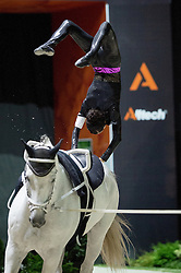 Reka Gadolla, (HUN), Zakarias, Natalia Sandor - Individuals Women Freestyle Vaulting - Alltech FEI World Equestrian Games™ 2014 - Normandy, France.<br /> © Hippo Foto Team - Jon Stroud<br /> 03/09/2014