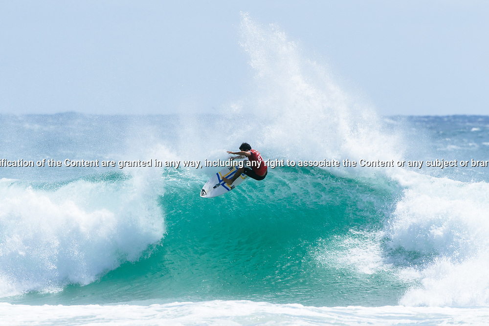 Jeremy Flores of France placed second in Heat 5 of Round 3 at the Quiksilver Pro, Gold Coast, 2018. . FOR EDITORIAL NEWS USE ONLY