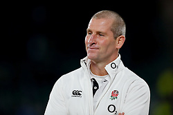 England Head Coach Stuart Lancaster looks on after England beat Australia 26-17 - Photo mandatory by-line: Rogan Thomson/JMP - 07966 386802 - 29/11/2014 - SPORT - RUGBY UNION - London, England - Twickenham Stadium - England v Australia - QBE Autumn Internationals.