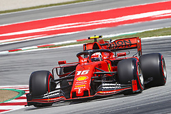 May 11, 2019 - Barcelona, Catalonia, Spain - Racing Point BWT Mercedes driver Lance Stroll (18) of Canada during F1 Grand Prix qualifying celebrated at Circuit of Barcelona 11th May 2019 in Barcelona, Spain. (Credit Image: © Mikel Trigueros/NurPhoto via ZUMA Press)