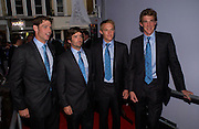 England polo team LUKE TOMLINSON, MARK TOMLINSON, HENRY BRETT and MALCOLM BORWICK. Polo players party hosted by AJM International Publishing and Cartier celebrating the 21st anniversary of the Cartier International Polo. The Collection, London. ONE TIME USE ONLY - DO NOT ARCHIVE  © Copyright Photograph by Dafydd Jones 66 Stockwell Park Rd. London SW9 0DA Tel 020 7733 0108 www.dafjones.com