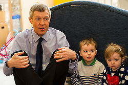 Pictured: Willie Renni, Nico Mills and Lucy Devlin (both aged two)<br /> <br /> Scottish Liberal Democrat leader Willie Rennie marked the first full day of campaigning for the Scottish Election by visiting  the New Town Nursery in Edinburgh. He was joined by Edinburgh Western candidate Alex Cole-Hamilton as the children were enjoying a lively morning<br /> <br /> Ger Harley | EEm 23 March 2016