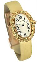 cartier gold women's watch