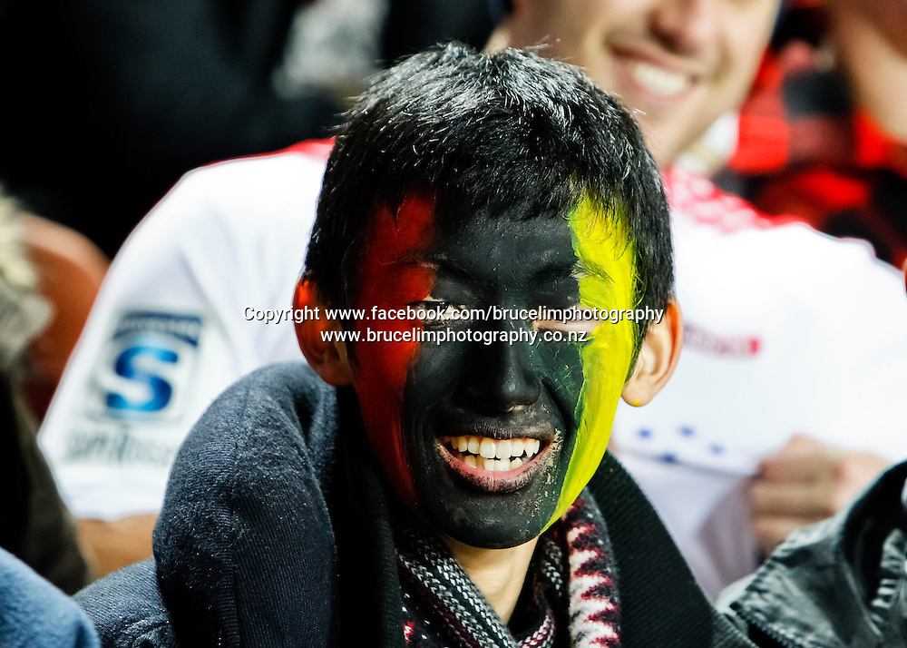 A Chiefs fan during the Super 15 rugby union semi final match, Chiefs v Crusaders at Waikato Stadium, Hamilton on Saturday 27 July 2013.  Photo:  Bruce Lim / Photosport.co.nz
