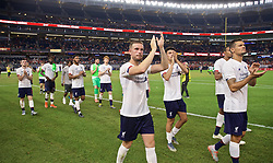 NEW YORK, NEW YORK, USA - Wednesday, July 24, 2019: Liverpool's captain Jordan Henderson applauds the supporters after a friendly match between Liverpool FC and Sporting Clube de Portugal at the Yankee Stadium on day nine of the club's pre-season tour of America. The game ended in a 2-2 draw. (Pic by David Rawcliffe/Propaganda)