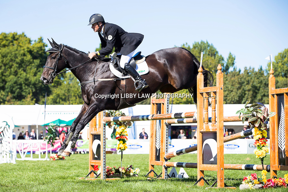 NZL-Matthew Grayling (NRM LOWENBERG) CIC3* SHOWJUMPING: 2015 NZL-Farmlands Horse Of The Year Show, Hastings (Friday 20 March) CREDIT: Libby Law CREDIT: LIBBY LAW PHOTOGRAPHY