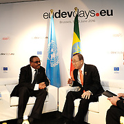 20160615 - Brussels , Belgium - 2016 June 15th - European Development Days - Bilateral Meeting Ban Ki-Moon<br /> Secretary General, United Nations<br /> and Hailemariam Desalegn Boshe<br /> Prime Minister of Ethiopia<br /> &copy; European Union