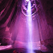 Ruby Falls, a famous underground limestone cave tourist attraction in Lookout Mountain in Chattanooga Tennessee