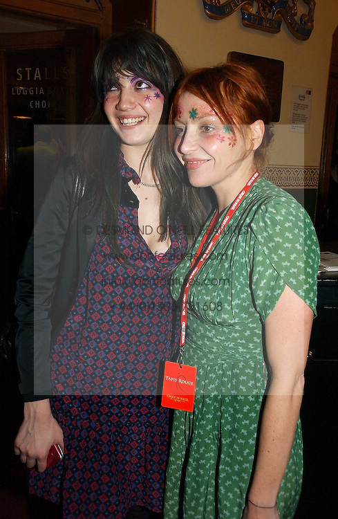 Left to right, DAISY LOWE and her mother PEARL LOWE at the opening night of Cirque Du Soleil's 'Alegria' held at the Royal Albert Hall, London on 5th January 2007.<br /><br />NON EXCLUSIVE - WORLD RIGHTS