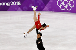February 15, 2018 - Gangneung, South Korea - Wenjing Sui and Cong Han of China compete during the Pairs Figure Skating Free Skating and win a silver medal at the PyeongChang 2018 Winter Olympic Games at Gangneung Ice Arena on Thursday February 15, 2018. (Credit Image: © Paul Kitagaki Jr. via ZUMA Wire)