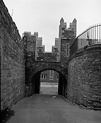 Views of Old Dublin 14/02/1976.02.14.1976.14th February 1976.Picture of an old wall and gate in Dublin City.