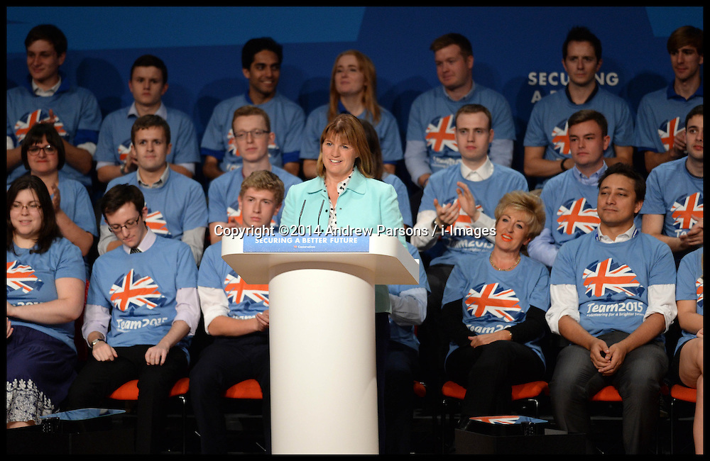 Image ©Licensed to i-Images Picture Agency. 28/09/2014. Birmingham, United Kingdom. Rachel Maclean delivering her speech on Day one of the  Conservative Party Conference.Picture by Andrew Parsons / i-Images