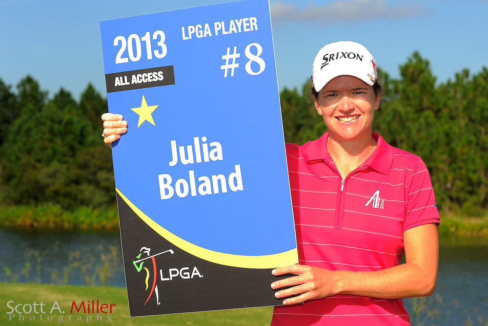 Julia Boland with her card following the final round of the Daytona Beach Invitational  at LPGA International on Sep 30, 2012 in Daytona Beach, Florida...©2012 Scott A. Miller