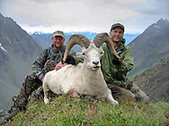 Successful Dall Sheep Hunters with Ram in a Beautiful Alaskan Valley