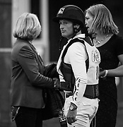 MICHAEL JUNG (GER) takes a moment after the Horseware Indoor Eventing Challenge at The Royal Horse Show in Toronto, Ontario. JUNG won the event beating 9 other riders.