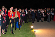THE DUKE OF KENT; BRIGADIER SIMON ALLEN, Charity Dinner in aid of Caring for Courage The Royal Scots Dragoon Guards Afganistan Welfare Appeal. In the presence of the Duke of Kent. The Royal Hospital, Chaelsea. London. 20 October 2011. <br /> <br />  , -DO NOT ARCHIVE-© Copyright Photograph by Dafydd Jones. 248 Clapham Rd. London SW9 0PZ. Tel 0207 820 0771. www.dafjones.com.