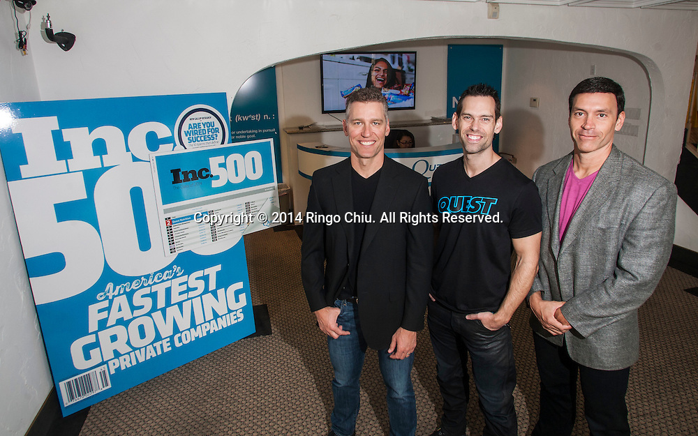 (From L to R) Co-founders of Quest Nutrition: CEO Ron Penna, President Tom Bilyeu, and CFO Mike Osborn. (Photo by Ringo Chiu/PHOTOFORMULA.com)