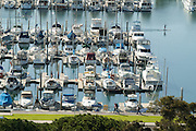 Yachts and Sailboats in the Dana Point Harbor