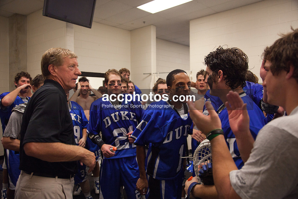 29 May 2010: Duke Blue Devils after beating the Virginia Cavaliers in the NCAA semifinals at M&T Bank Stadium in Baltimore, MD.