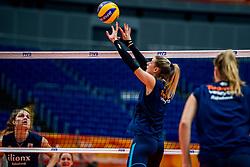 18-10-2018 JPN: World Championship Volleyball Women day 19, Yokohama<br /> Training day Netherlands in Yokohama Arena / Britt Bongaerts #12 of Netherlands