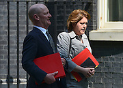© Licensed to London News Pictures. 07/05/2013. Wesminster, UK.  David Willetts, Conservative MP, Minister of State (Universities and Science) and Maria Miller, Conservative MP, Secretary of State for Culture, Olympics, Media and  Sport . Ministers on Downing Street on Tuesday 7th May 2013. Photo credit : Stephen Simpson/LNP
