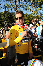 Bradley Wiggins after  winning  the Tour de France in Paris, Sunday, 22nd July 2012.  Photo by:  i-Images / Bureau233