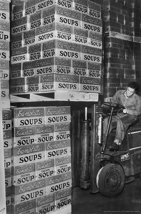 Pallets of Campbell's Soups, 1935