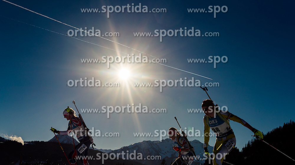 15.02.2017, Biathlonarena, Hochfilzen, AUT, IBU Weltmeisterschaften Biathlon, Hochfilzen 2017, Damen, Einzel, im Bild Feature, Amanda Lightfoot (GBR), Lisa Theresa Hauser (AUT), Diana Salman (ROU) // Feature Amanda Lightfoot of United Kingdom, Lisa Theresa Hauser of Austria, Diana Salman of Romania // during individual women the IBU Biathlon World Championship at the at the Biathlonarena in Hochfilzen, Austria on 2017/02/15. EXPA Pictures © 2017, PhotoCredit: EXPA/ JFK