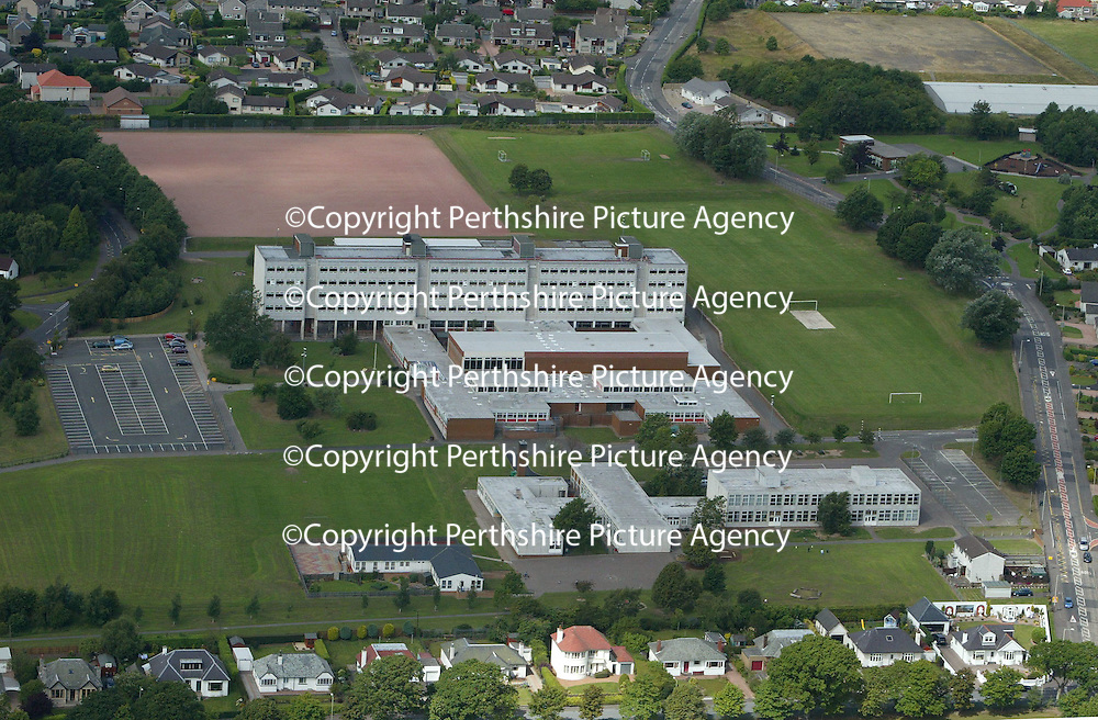 An aerial view of Perth High School and Viewlands Road<br />