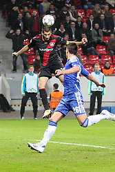 23.11.2011, BayArena, Leverkusen, Germany, UEFA CL, Gruppe E, Bayer 04 Leverkusen (GER) vs Chelsea FC (ENG), im Bild Tor zum 1:1 durch Eren Derdiyok (Leverkusen #19). Er köpft über John Terry (Chelsea #26) und Alex (Chelsea #33) hinweg // during the football match of UEFA Champions league, group E, between Bayer Leverkusen (GER) and FC Chelsea (ENG) at BayArena, Leverkusen, Germany on 2011/11/23.EXPA Pictures © 2011, PhotoCredit: EXPA/ nph/ Mueller..***** ATTENTION - OUT OF GER, CRO *****