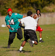 "Second of four. A pickup football game in Prospect Park. It had to be one of the roughest ""games"" I ever saw. Guys would be hurt or even crippled after each play. They as a result took minutes, even longer between each play. Don't know if they ever finished so many guys got hurt."