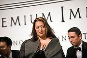 British architect Zaha Hadid arrives for a media event formally announcing the winners of this year's Praemium Imperiale, a global arts prize that is awarded annually, in Tokyo, Japan on Wed., Oct. 21 2009. Other winners included Britions playwright Tom Stoppard and sculptor Richard Long..Photographer: Robert Gilhooly