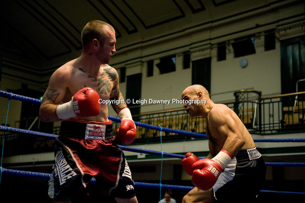 Duncan Cottier (left) v  Jamal Morrison at York Hall 4th October 2009. Promoted by David Coldwell,Hayemaker Promotions Credit: ©Leigh Dawney Photography