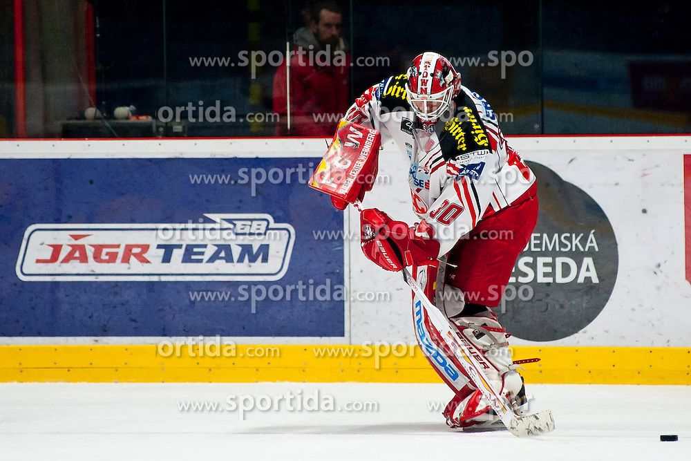 15.03.2015, Ice Rink, Znojmo, CZE, EBEL, HC Orli Znojmo vs EC KAC, 59. Runde, 5. Viertelfinale, im Bild Rene Swette (EC KAC) // during the Erste Bank Icehockey League 59th round match, 5th quarterfinal between HC Orli Znojmo and EC KAC at the Ice Rink in Znojmo, Czech Republic on 2015/03/15. EXPA Pictures © 2015, PhotoCredit: EXPA/ Rostislav Pfeffer