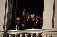 National day, the Prince family at the balcony of Palace of Monaco   La famille princiere au balcon du Palais pour la Fete nationnale le 11 novembre  R12/160    L1540  /  P0003948