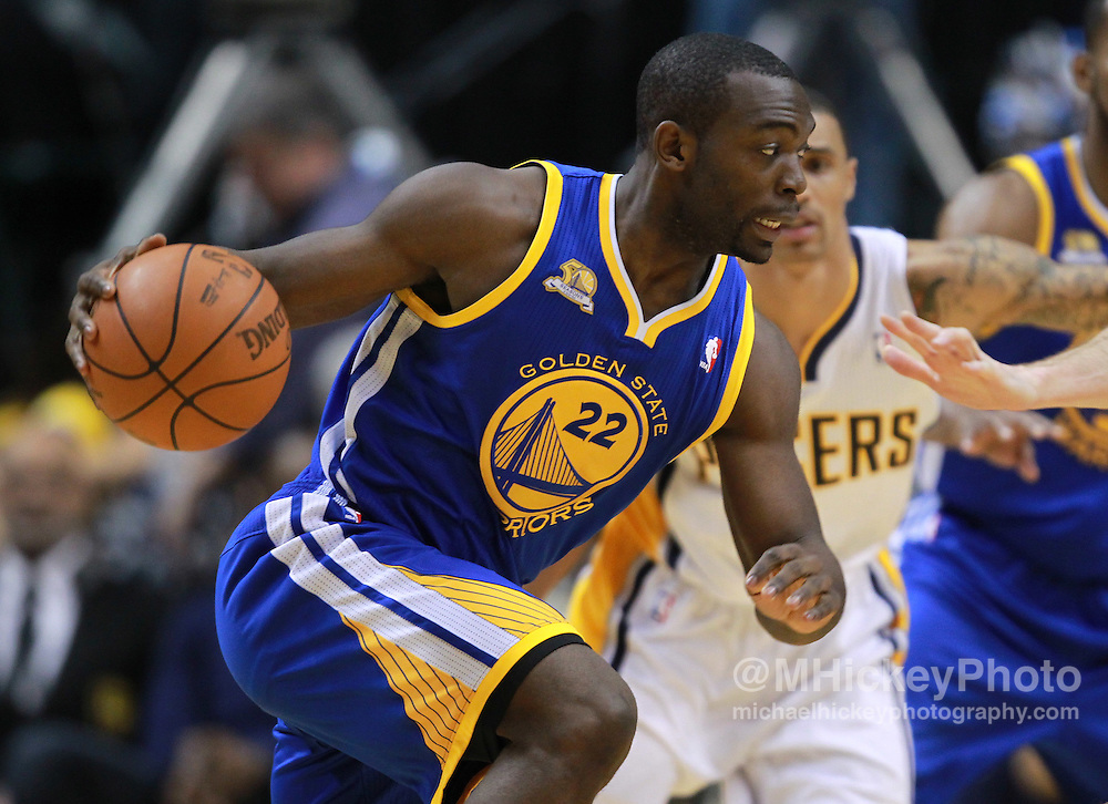 Feb. 28, 2012; Indianapolis, IN, USA; Golden State Warriors guard Charles Jenkins (22) dribbles the ball against the Indiana Pacers at Bankers Life Fieldhouse. Indiana defeated Golden State 102-78. Mandatory credit: Michael Hickey-US PRESSWIRE