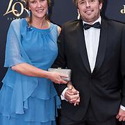 NLD/Utrecht/20181005 - L'OR Gouden Kalveren Gala 2018, Ingeborg Wieten en partner