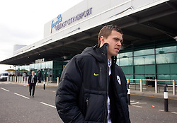 Josip Ilicic at arrival of Slovenia's National football team to Belfast, Northern Ireland for EURO 2012 Quaifications game between National teams of Slovenia and Northern Ireland, on March 28, 2011, at George Best Belfast City Airport, Northern Ireland, United Kingdom. (Photo by Vid Ponikvar / Sportida)