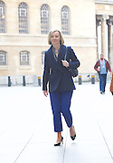 Liz Truss arrives for the Andrew Marr Show arrivals<br /> BBC, Broadcasting House, London, Great Britain <br /> 19th February 2017 <br /> <br /> <br /> <br /> Elizabeth Truss<br /> Secretary of State for Justice and The Lord Chancellor <br /> <br /> Photograph by Elliott Franks <br /> Image licensed to Elliott Franks Photography Services