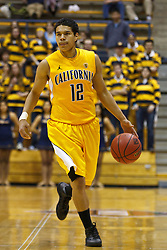 March 16, 2011; Berkeley, CA, USA;  California Golden Bears guard Brandon Smith (12) dribbles the ball up court against the Mississippi Rebels during the second half of the first round of the National Invitation Tournament at Haas Pavilion.  California defeated Mississippi 77-74.