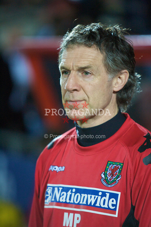 WREXHAM, WALES - Wednesday, February 6, 2008: Wales' Physiotherapist Mel Pejic during an international friendly match at the Racecourse Ground. (Photo by David Rawcliffe/Propaganda)