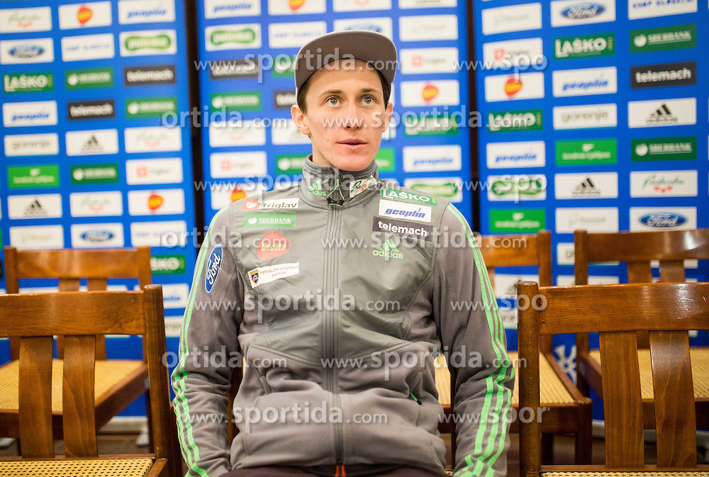Peter Prevc during press conference of Slovenian National Men Ski Jumping Team, on December 22, 2015 in Pivnica Union, Ljubljana, Slovenia. Photo by Vid Ponikvar / Sportida
