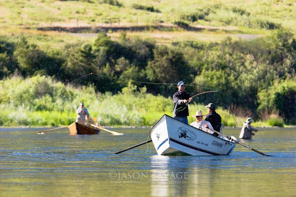 FlyFishing on the Missouri Rive near Wolf Creek
