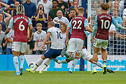 GOAL 2-1 Tottenham Hotspur forward Harry Kane (10) scores the Premier League match between Tottenham Hotspur and Aston Villa at Tottenham Hotspur Stadium, London, United Kingdom on 10 August 2019.