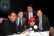 GLENN SCOTT; JONATHAN CROCKETT;  YAYOI KUSAMA; HIDENON OTA; JEFFREY LAI'; , Yayoi Kusama opening. Tate Modern. London. 7 February 2012