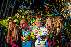 Podium, 1. Zdenek STYBAR (CZE), 2. Sven NYS (BEL), 3. Kevin PAUWELS (BEL), The podium ceremony at Men UCI CX World Championships - Hoogerheide, The Netherlands - 2nd February 2014 - Photo by Pim Nijland / Peloton Photos