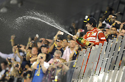 13.11.2011, Yas-Marina-Circuit, Abu Dhabi, UAE, Grosser Preis von Abu Dhabi, im Bild Podium - Fernando Alonso (ESP), Scuderia Ferrari  // during the Formula One Championships 2011 Large price of Abu Dhabi held at the Yas-Marina-Circuit, 2011/11/12. EXPA Pictures © 2011, PhotoCredit: EXPA/ nph/ Dieter Mathis..***** ATTENTION - OUT OF GER, CRO *****
