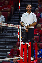BLOOMINGTON, IL - September 15: Krystian Krzyzak during a college Women's volleyball match between the ISU Redbirds and the Marquette Golden Eagles on September 15 2019 at Illinois State University in Normal, IL. (Photo by Alan Look)